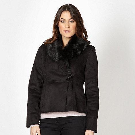 RJR.John Rocha - Designer black faux fur jacket