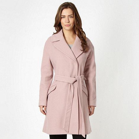 RJR.John Rocha - Designer pink cashmere blend belted coat