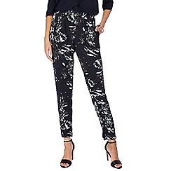 RJR.John Rocha - Navy floral print trousers