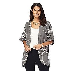 RJR.John Rocha - Grey floral print short sleeve jacket