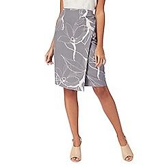 RJR.John Rocha - Grey floral print wrap skirt
