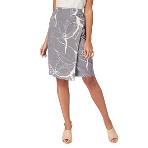 RJR.John Rocha Grey floral print wrap skirt