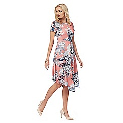 RJR.John Rocha - Peach 'Dahlia' floral print dress