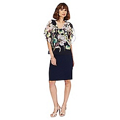 RJR.John Rocha - Navy floral print pencil dress