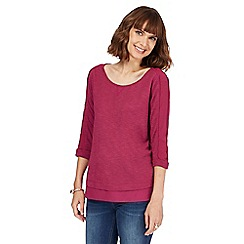 RJR.John Rocha - Purple chiffon trim top