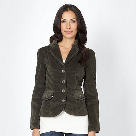 RJR.John Rocha - Designer khaki mini cord blazer