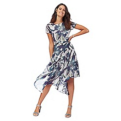 RJR.John Rocha - Grey floral print high low dress
