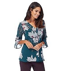 RJR.John Rocha - Green floral print chiffon shirt