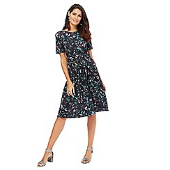 RJR.John Rocha - Black floral print 'Midnight Meadow' dress