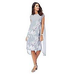 RJR.John Rocha - Grey floral print midi dress