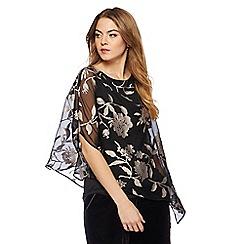 RJR.John Rocha - Black floral devore one sleeves top