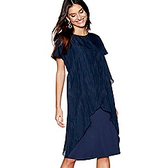 RJR.John Rocha - Navy jacquard print midi shift dress