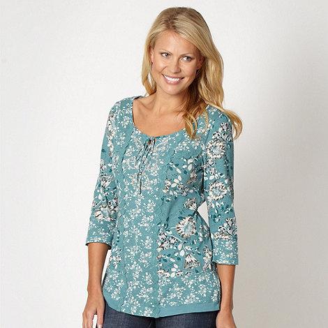 RJR.John Rocha - Designer turquoise mixed floral top