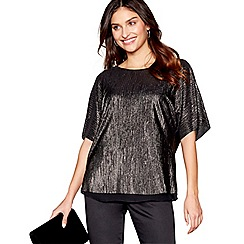 RJR.John Rocha - Gold metallic batwing top