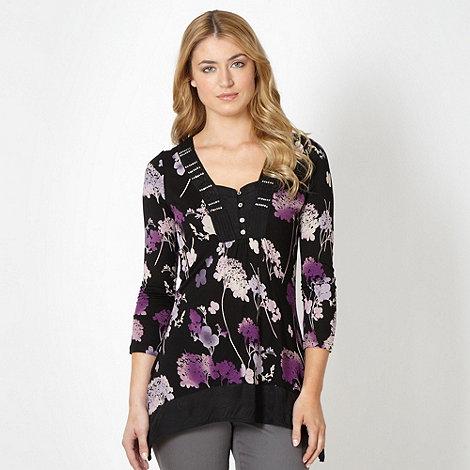 RJR.John Rocha - Designer black floral top