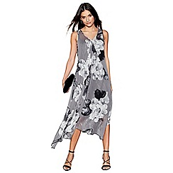 RJR.John Rocha - Grey peony print maxi dress