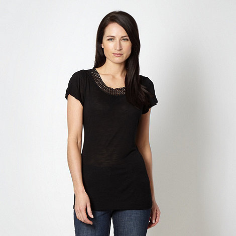 RJR.John Rocha - Designer black bobble trim jersey top