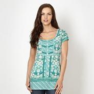 Designer aqua tile printed top