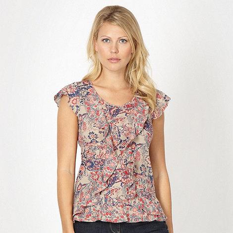 RJR.John Rocha - Designer natural double frill floral top