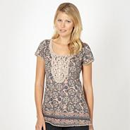Designer natural tile printed tunic