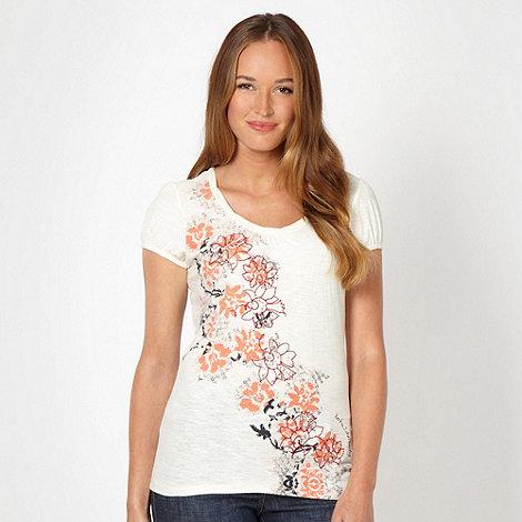 RJR.John Rocha - Designer ivory artisan floral t-shirt