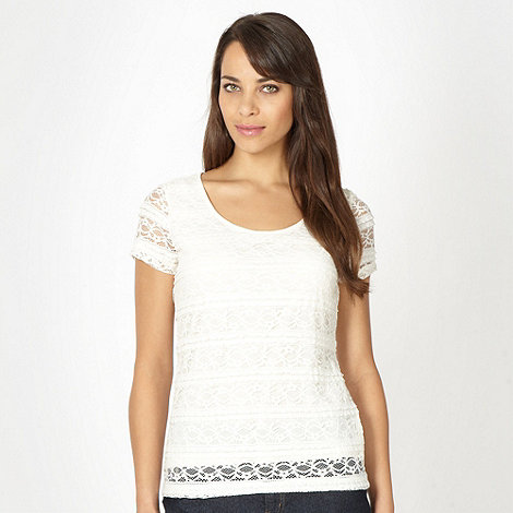 RJR.John Rocha - Designer cream all over lace t-shirt