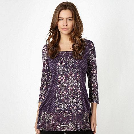 RJR.John Rocha - Designer purple empire neck tunic