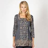 Designer grey three quarter sleeved tunic