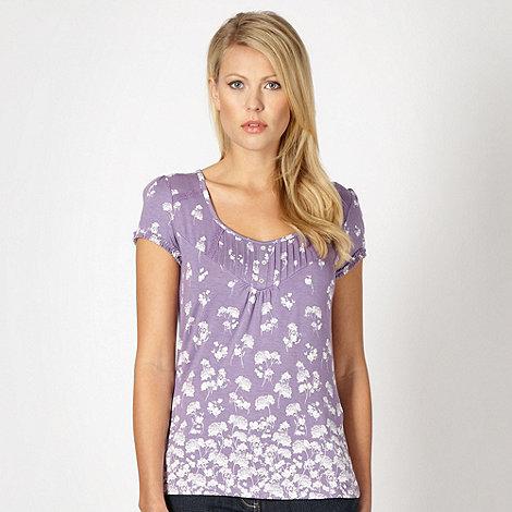 RJR.John Rocha - Designer lilac floral top