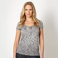 Designer grey dove patterned tunic top