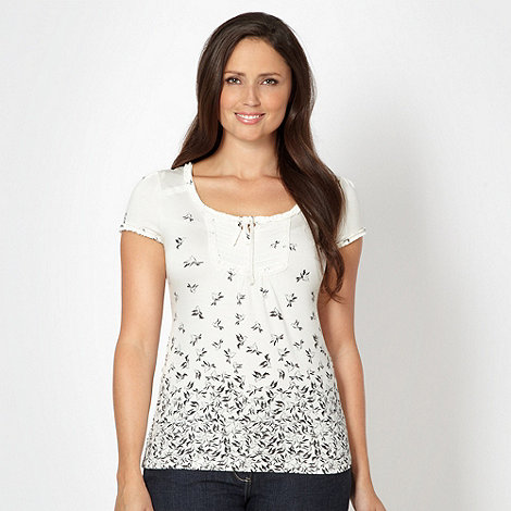 RJR.John Rocha - Designer ivory dove patterned jersey top