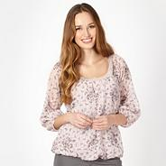 Designer light pink dove print top