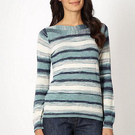 RJR.John Rocha - Designer turquoise space dye striped jumper
