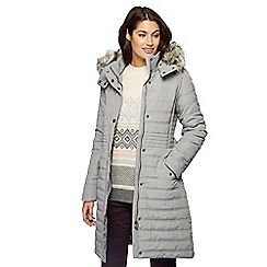 RJR.John Rocha - Light grey faux fur longline coat