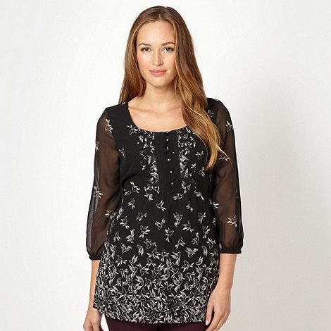 RJR.John Rocha - Designer black bird print blouse