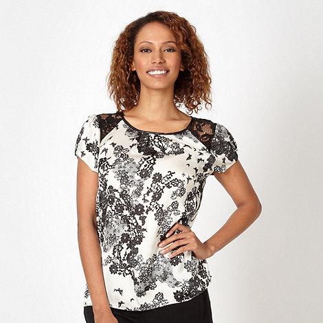RJR.John Rocha - Designer ivory floral lace shoulder shell top