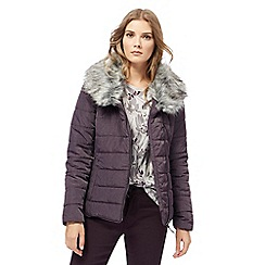 RJR.John Rocha - Purple detachable trim jacket