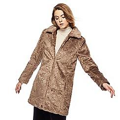 RJR.John Rocha - Taupe faux fur jacket