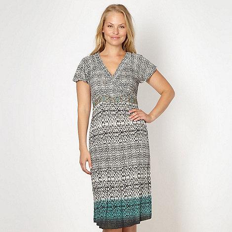 RJR.John Rocha - Designer taupe geometric dip dye dress