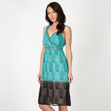 RJR.John Rocha - Designer aqua feather ombre dress