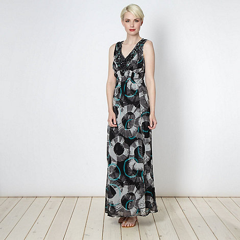 RJR.John Rocha - Designer black circle embellished maxi dress