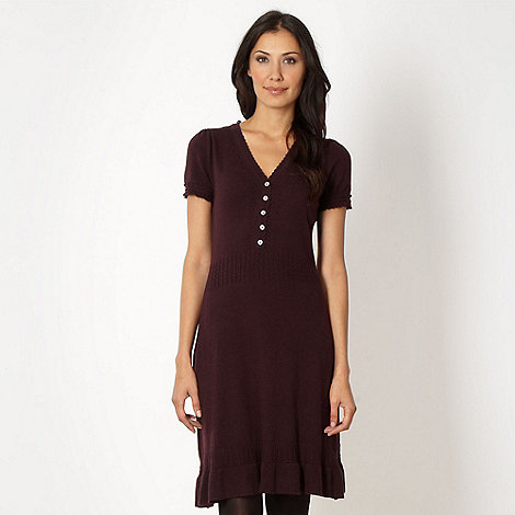 RJR.John Rocha - Designer plum knitted dress