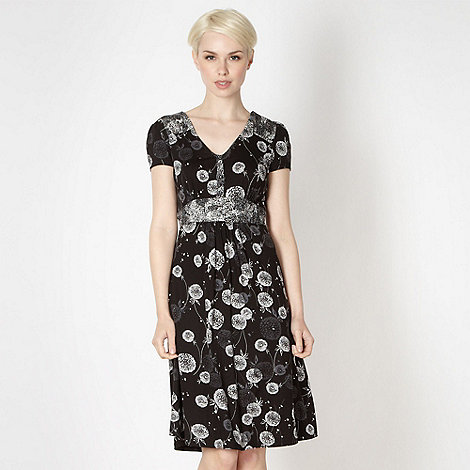 RJR.John Rocha - Designer black mixed dandelion tea dress
