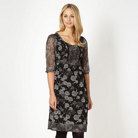 RJR.John Rocha - Designer black dandelion embellished dress