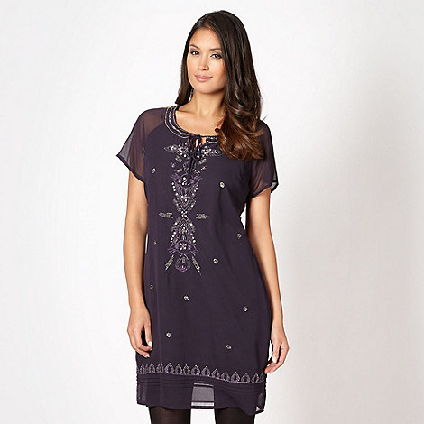 RJR.John Rocha - Designer plum embellished dress