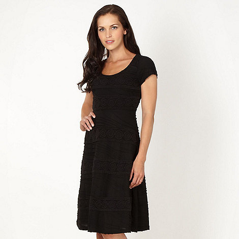 RJR.John Rocha - Designer black crochet panel dress
