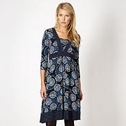 Designer navy coffee bean dress