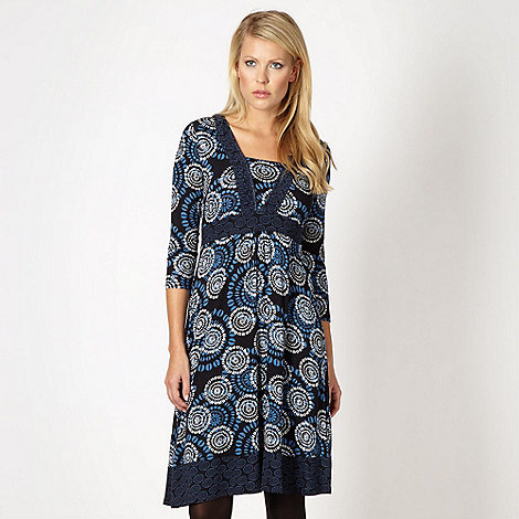 RJR.John Rocha - Designer navy coffee bean dress