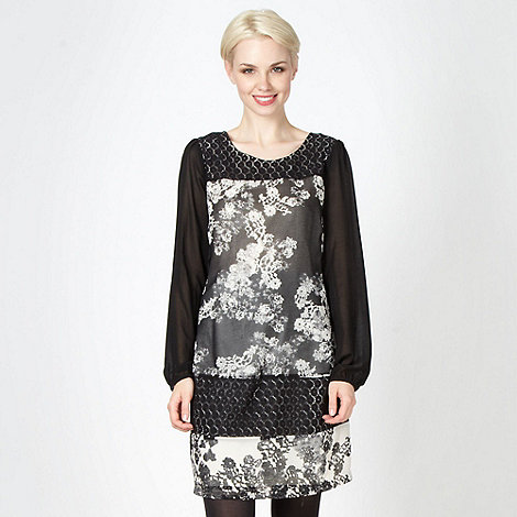 RJR.John Rocha - Designer black mixed lace dress