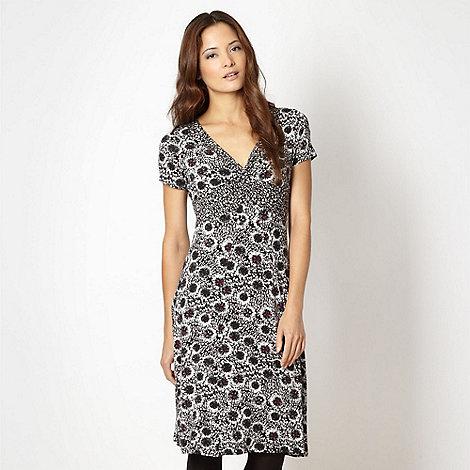 RJR.John Rocha - Designer black pom pom floral jersey dress